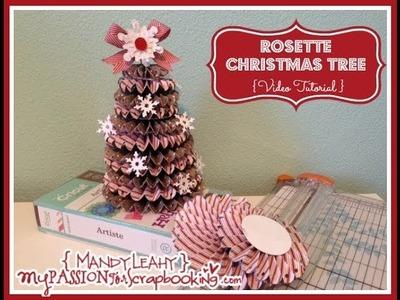 How To Make a Rosette Christmas Tree using CTMH Artiste Cricut Cartridge
