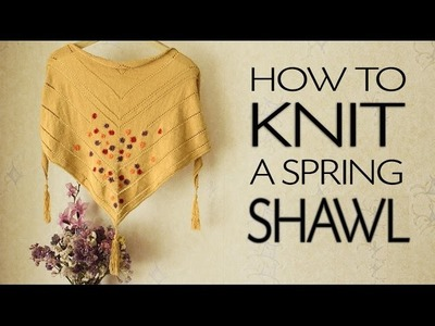 Knitting. How To Knit a Triangle Shawl