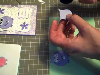 Make a hippo with Stampin' Up owl punch