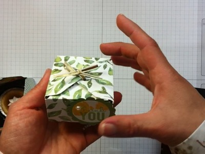 Make mini boxes with Stampin Up envelope punch board