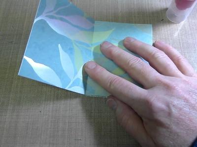 One sheet mini album tutorial; 3x4 Part 1