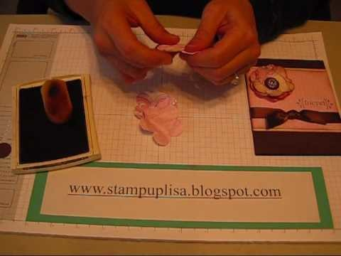 Paper Flowers tutorial and ideas with Stampin Up products
