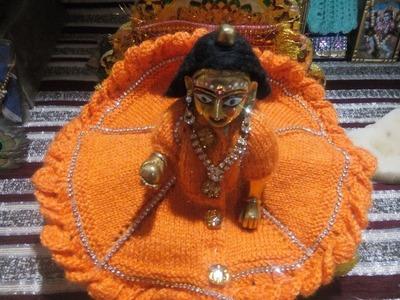 Part 2 - Make Knitting dress of Bal Gopal - Ladoo gopal bunai poshak