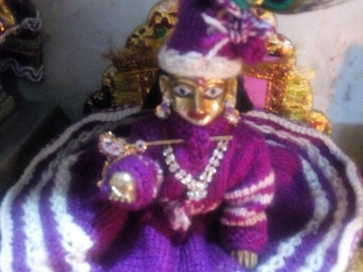 Part 2 - Make Knitting dress of Bal Gopal bina jali wali - full sleeves - Ladoo gopal bunai poshak