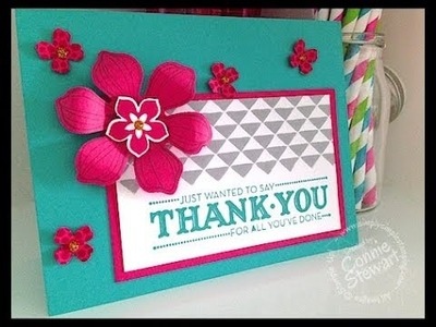 Simply Simple FLASH CARD - Beautiful Bunch Thank You Card by Connie Stewart