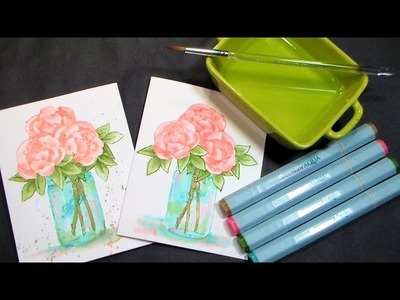Stamp School #4: No-Line Watercoloring with Markers, Masking & Tips Galore!