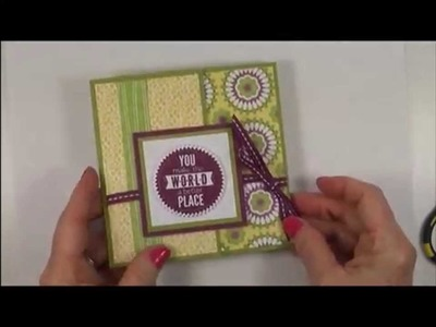 Stampin Up Card -  Unique Folded Card