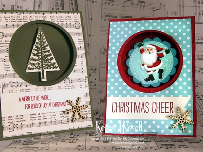 Stampin' Up! Christmas Spinner card