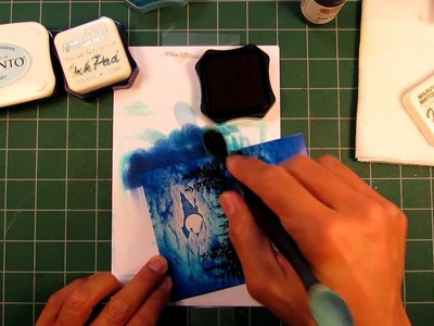 Stampscapes 101: Video 4.  Introduction to color application
