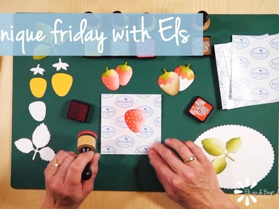 Technique Friday with Els - Coloring on Soft Finish Cardstock