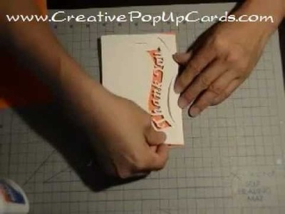 Thank You Pop Up Card: Ribbon Tutorial