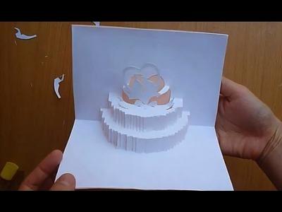 Wedding Cake Pop Up Card Tutorial