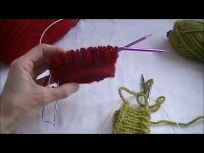Brioch knitting on round needles - English Rib Stitch