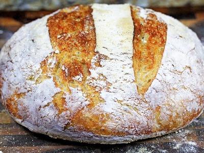 Crusty No-Knead Artisan Bread | How to make no-knead bread