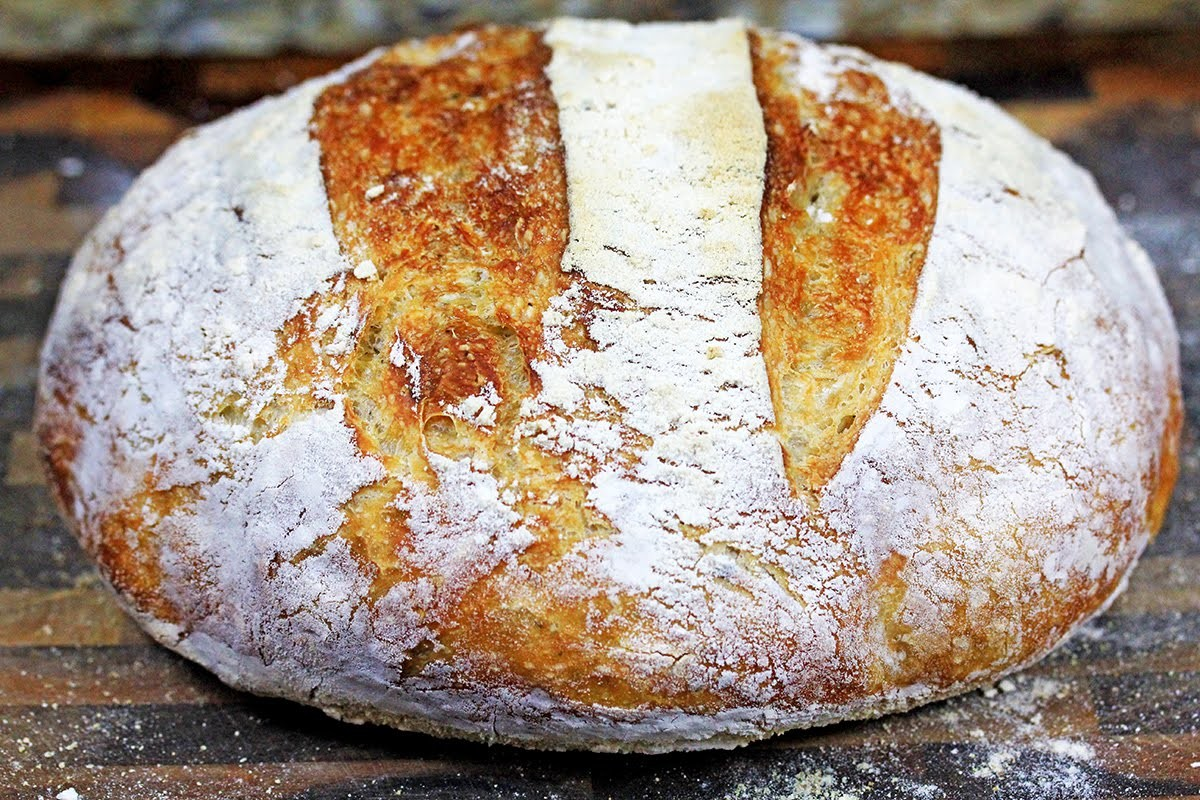 Crusty No-Knead Artisan Bread | How to make no-knead bread