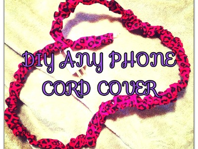 DIY PHONE CORD COVER (NO SEW)