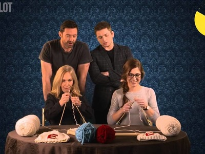 Eddie The Eagle Knitting Competition with Hugh Jackman and Taron Egerton!