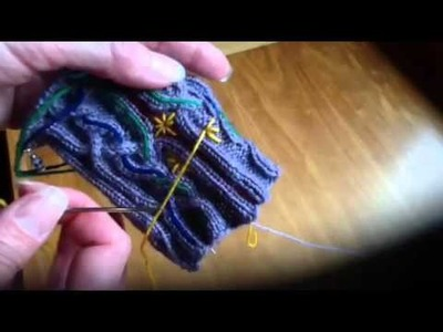 Embellishing your Knitting with the Straight Stitch