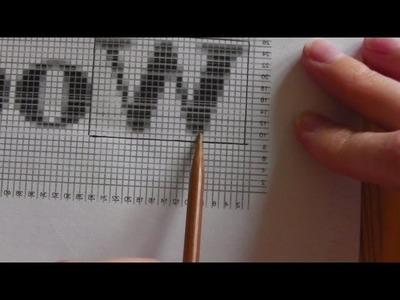 Grafik Bild stricken für Linkshänder