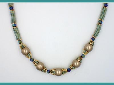 Herringbone Tube Beads (Tube-Tastic Necklace)