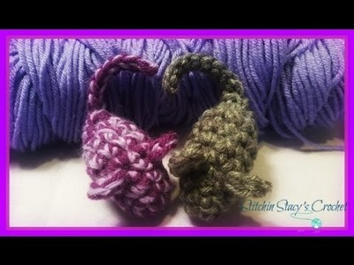 """How to Crochet a """"Cat Mouse Toy""""-FREE PATTERN"""