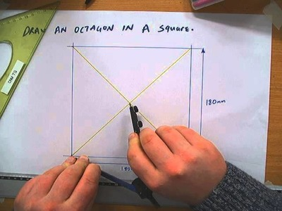 How to Draw an octagon in a square