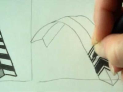 How to draw tanglepattern Braze