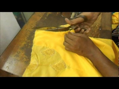 How to make salwar kammez neck,kameej Cutting stitching with lining and zip(method)