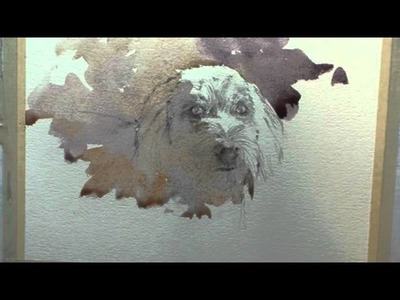 How to paint a dog portrait n watercolour