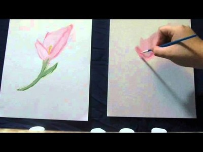 Let's Paint With Chipmunk: How to Paint a Calla Lily