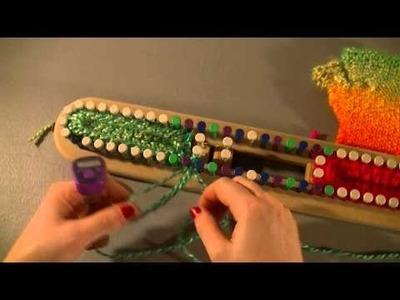 Loom Knit Fingerless Gloves on 15'' 1.2 gauge Universal Hat.Scarf Loom