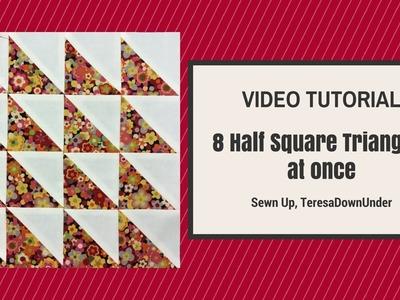 Make 8 Half Square Triangles in 2 minutes