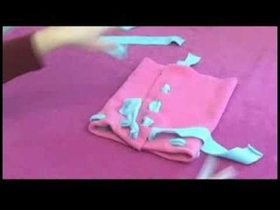 No-Sew Fleece Hat, Scarf & Pillow : Tying Off a No-Sew Fleece Hat