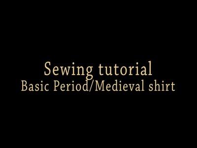 Sewing tutorial-basic Medieval.Period Shirt