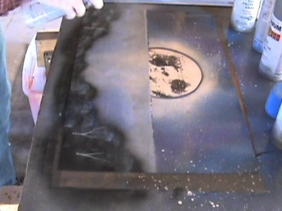 Spray Paint Art Tutorial: Moonlit Beach