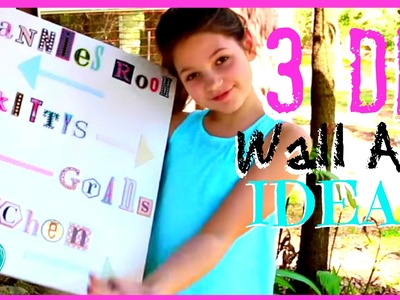 3 Girl's Bedroom DIY Wall Art | Annie's Room Make Over Ideas | JazzyGirlStuff