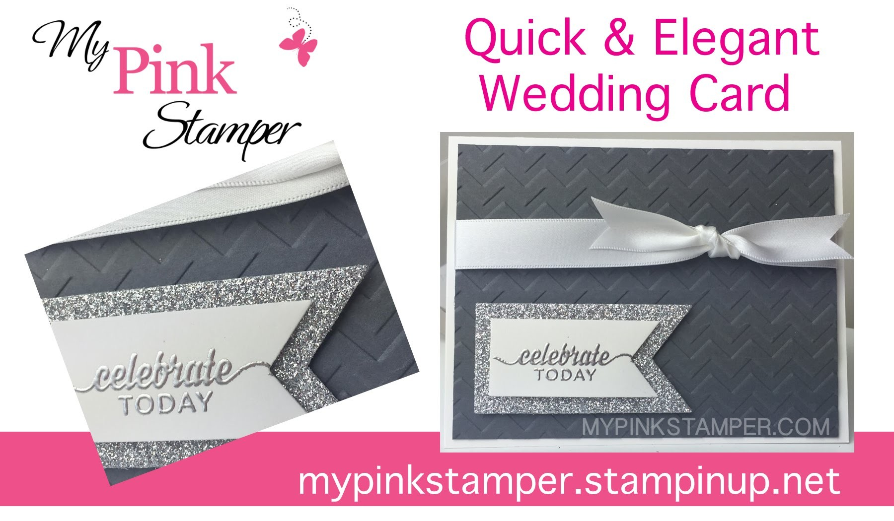 A Quick & Elegant Wedding Card with Stampin' Up! - Episode 444