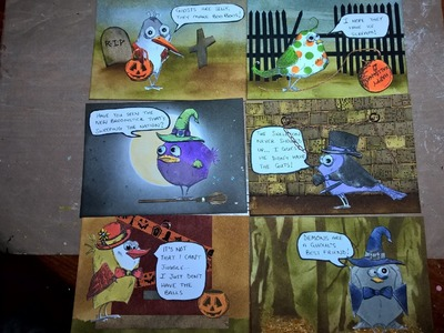 Bird Crazy Picture Book 2 (Halloween) : Part 2 - Assembling the Birds