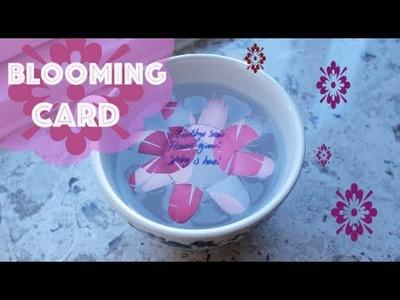 Blooming card - DIY