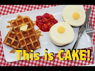 CAKE for BREAKFAST | Ultimate Candy Breakfast | Waffles, Eggs & Beans!