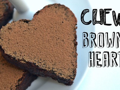 Chewy Chocolate Brownie Hearts Recipe | Easy & Healthy Vegan Dessert