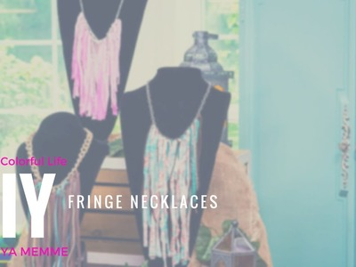 Create Fringe Necklaces with Chain and Fabric