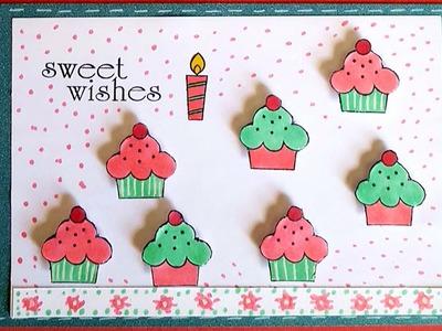 Cupcake Birthday Card - GiftBasketAppeal