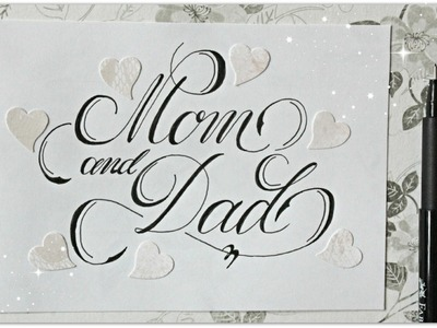 Cursive fancy letters - how to write Mom and Dad - easy