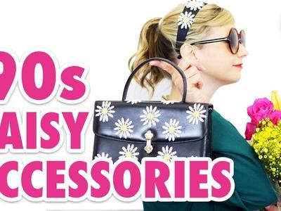 DIY '90s Fashion: Textured Daisy Purse & Headband