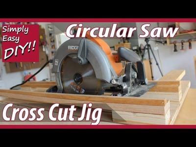 DIY Circular Saw Cross Cut Jig