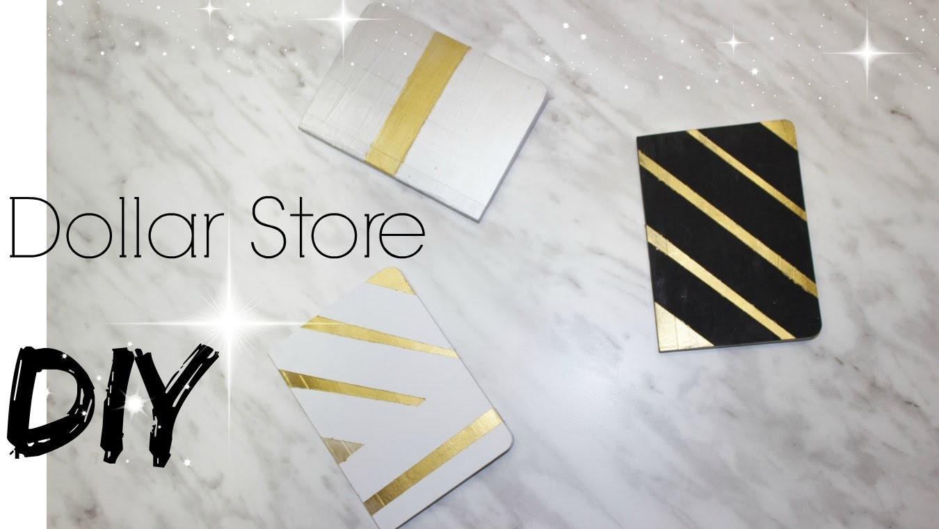 DIY | Day planner, Journal, Diary, Book cover Decor With Metallic Colours |Dollar Store DIY