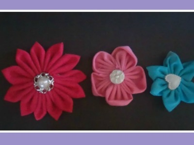 DIY fabric flowers for button bouquets, hair accessories and more.