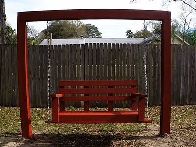 DIY Simple.Easy.Cheap Porch.Bench Swing with 2x4's