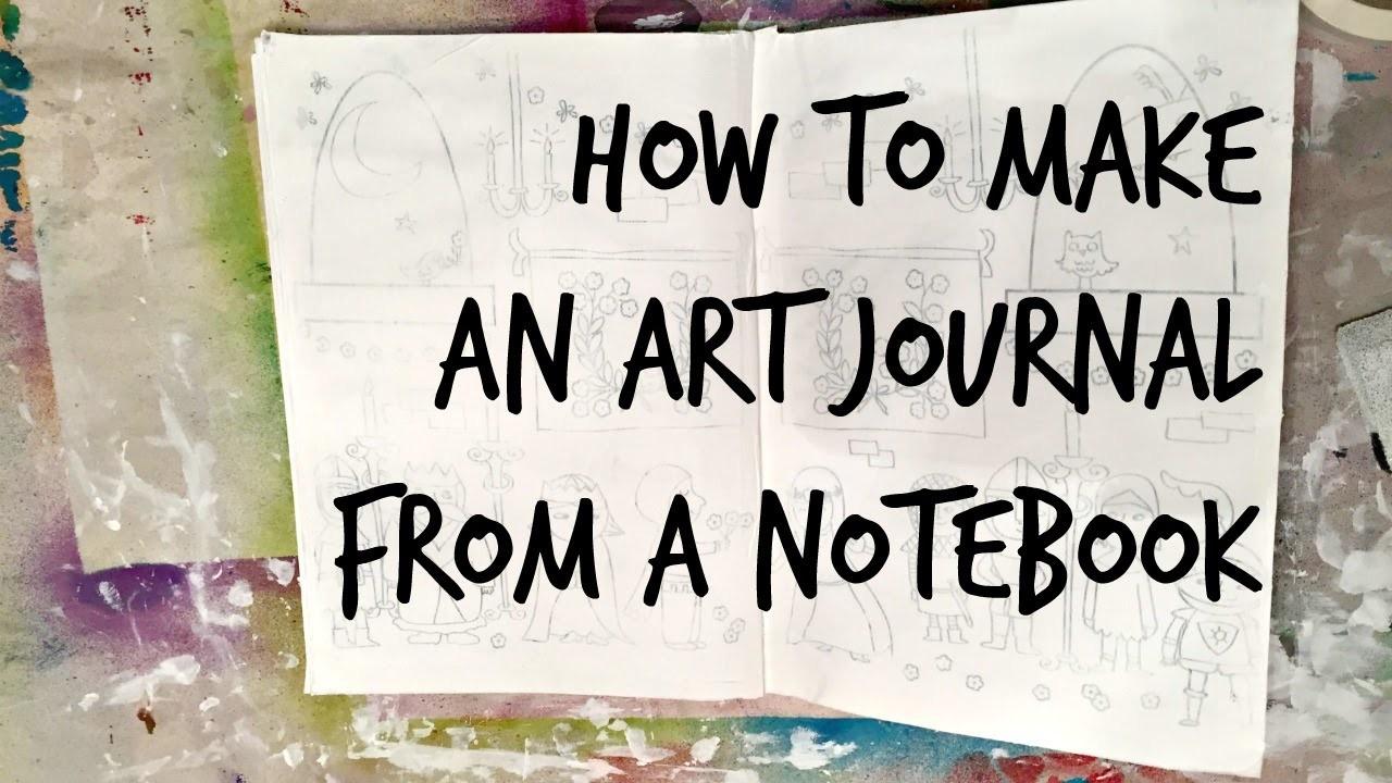 Dollar Store Crafts: How to Make an Art Journal from a Notebook ($10 Art Journal Part 2)